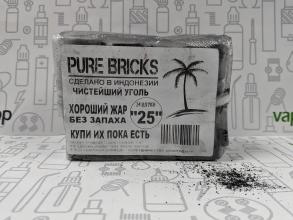 Уголь Pure Bricks (кокосовый) (24 кубика, 25*25мм) Индонезия